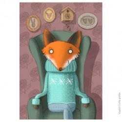 """Fox boy"" illustration A4 by Zsófia Vigyázó"