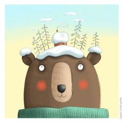 """""""Medve otthon"""" című illusztráció A4 Vigyázó Zsófia"""