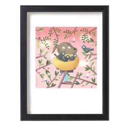 """""""Bird friend"""" illustration A4 by Zsófia Vigyázó"""