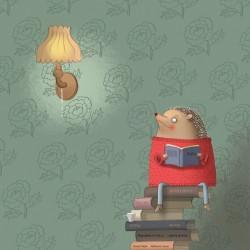 """""""Olvasás"""" című illusztráció A4 Vigyázó Zsófia"""