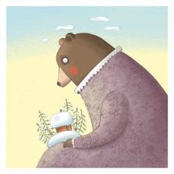 """Beargirl"" illustration A4 by Zsófia Vigyázó"