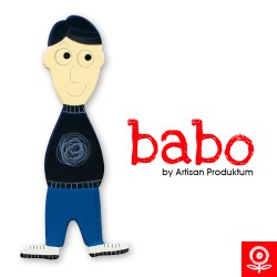 Babo Apa/Fiatal férfi mágnes - fekete hajú