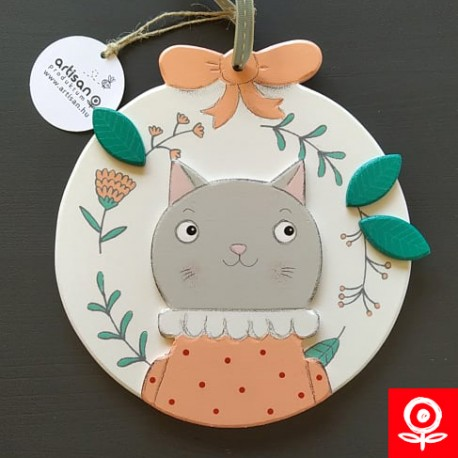 Spring cat door hanger/ decoration