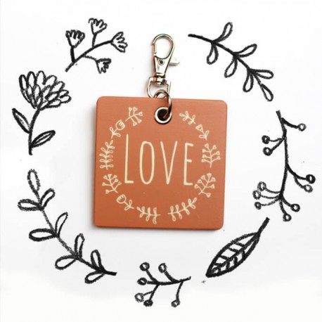"""LOVE"" key hanger"