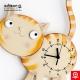 Macska óra narancs színű