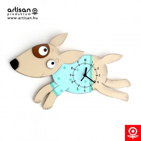 Clock running dog