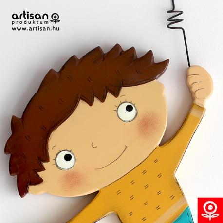 Clock - Boy with brown hair