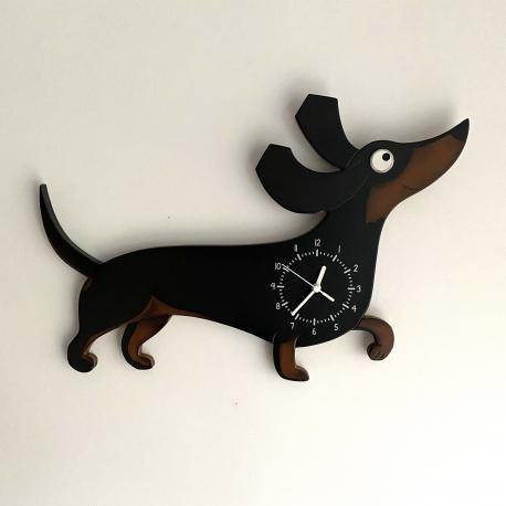 Clock running dog