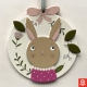 Spring rabbit door hanger