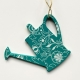 Spring decorations - Blue watering cans