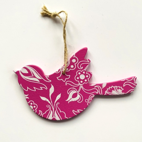 Spring decorations - Pink bird