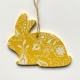Spring decorations - Yellow heart