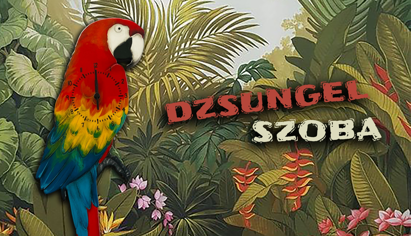 dzsungel papagáj óra